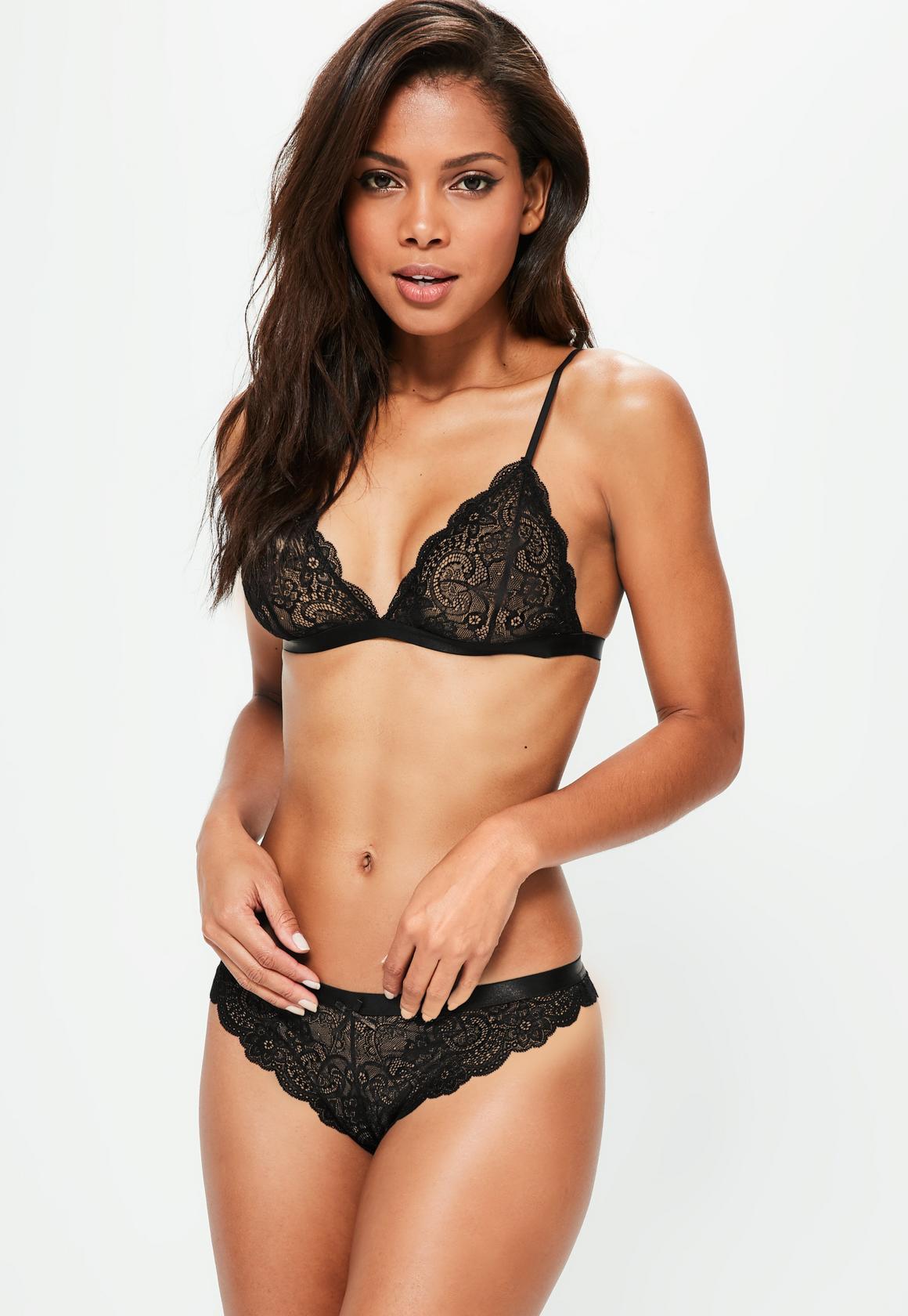 scallop lace triangle bra black. previous next zlwsqpk