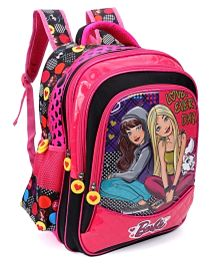 school bags barbie and blissa school bag pink u0026 black - 16 inches nbpufnx