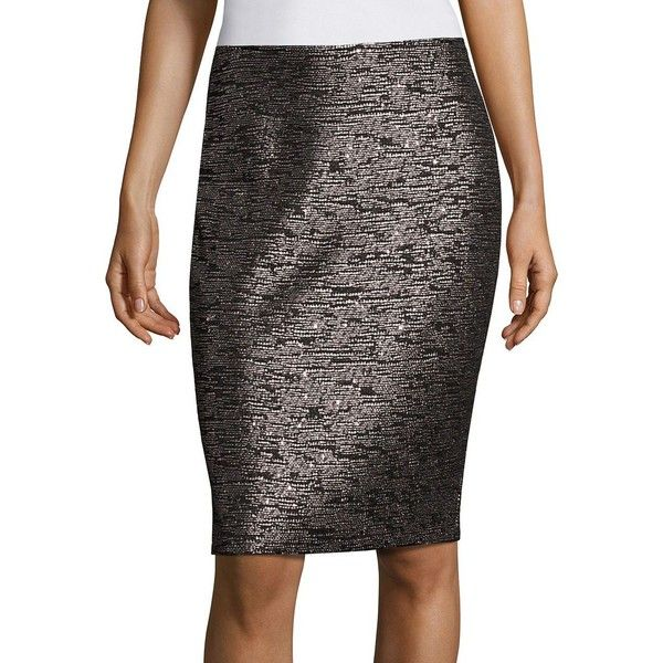 sequin pencil skirt st. john sequin knit pencil skirt ($495) ❤ liked on polyvore featuring ssbgglf