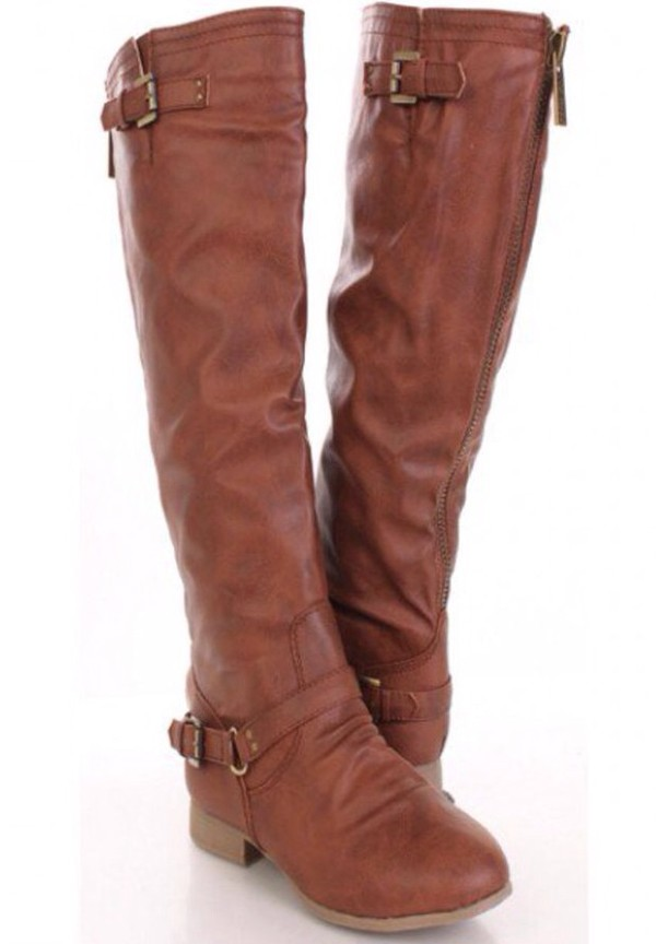 shoes: knee high riding boots, brown riding boots - wheretoget mdlcjij