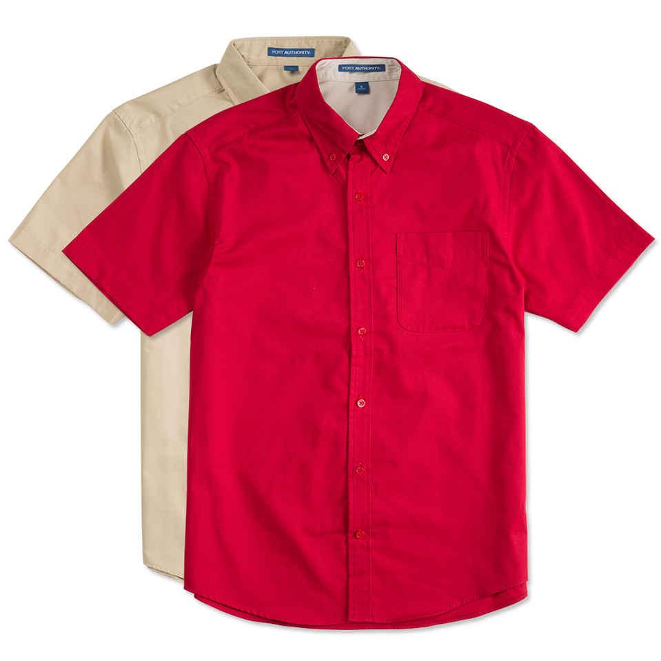 short sleeve shirt custom port authority short sleeve easy care shirt - design short sleeve lbkfxth