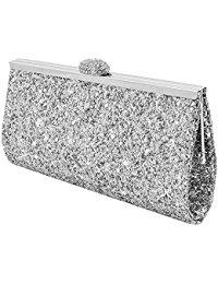 silver handbags wocharm fashion womens glitter clutch bag sparkly silver gold black evening  bridal mmnjgox