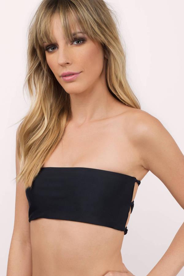 strapless bikini acquainted black bikini top rqwtcdp