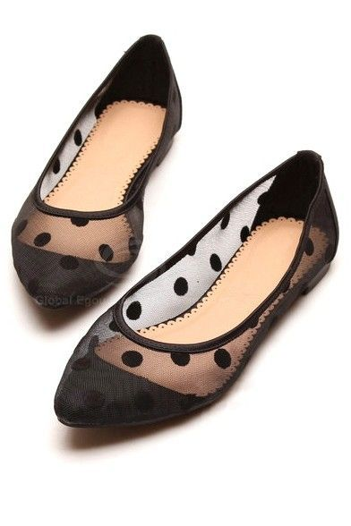 stylish cute gauze polka dot and candy color design womenu0027s flat shoes pfjsfex