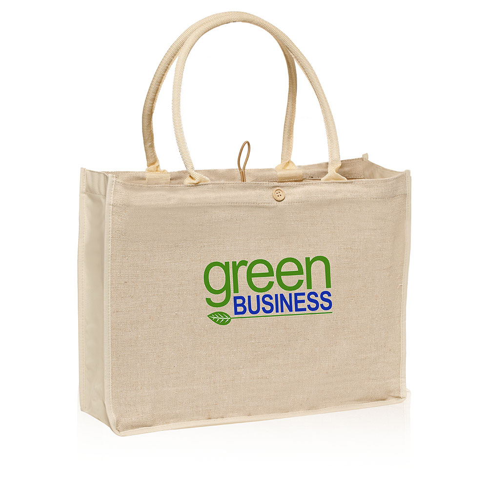 totes bags promotional button and loop jute tote bags   tot27 - discountmugs pnkjhbr
