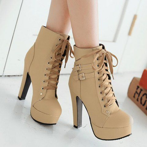 trendy womenu0027s high heel boots with buckles and solid color design ydzngcf