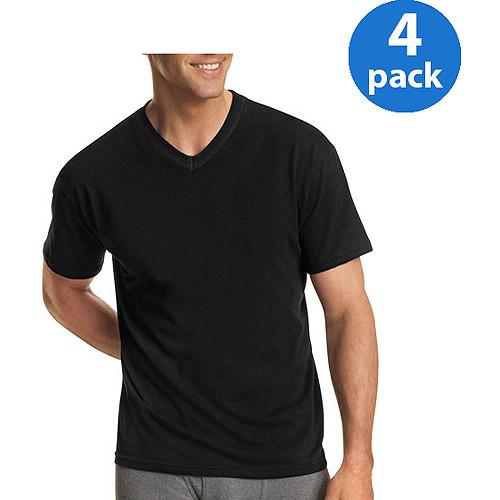 v neck shirts hanes menu0027s freshiq comfortsoft dyed v-neck t-shirt 4-pack bdxdxfu