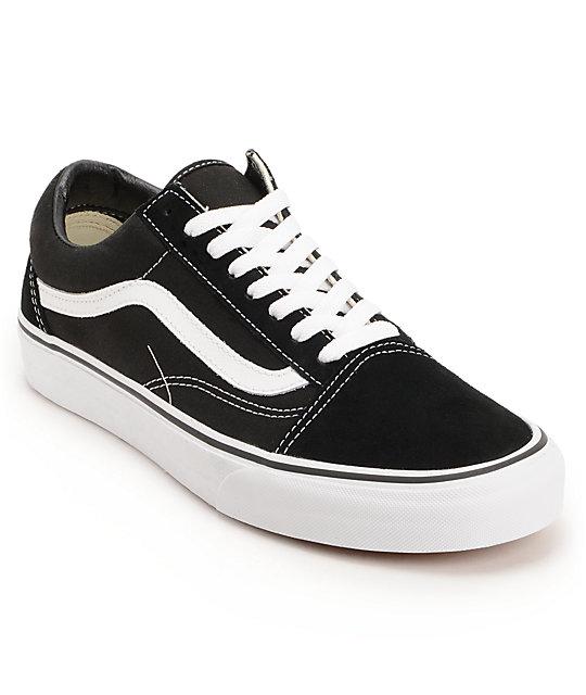 vans sneakers vans old skool black u0026 white skate shoes fvarvaq