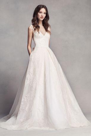 vera wang dresses long a-line wedding dress - white by vera wang tigwjon