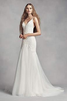 vera wang dresses long sheath romantic wedding dress - white by vera wang nucztpi