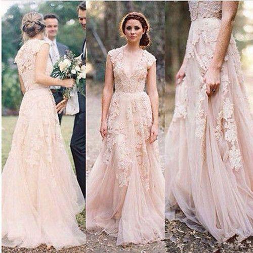 vintage lace wedding dresses cap sleeve bridal gowns custom size 2 4 6 pwcuhxv