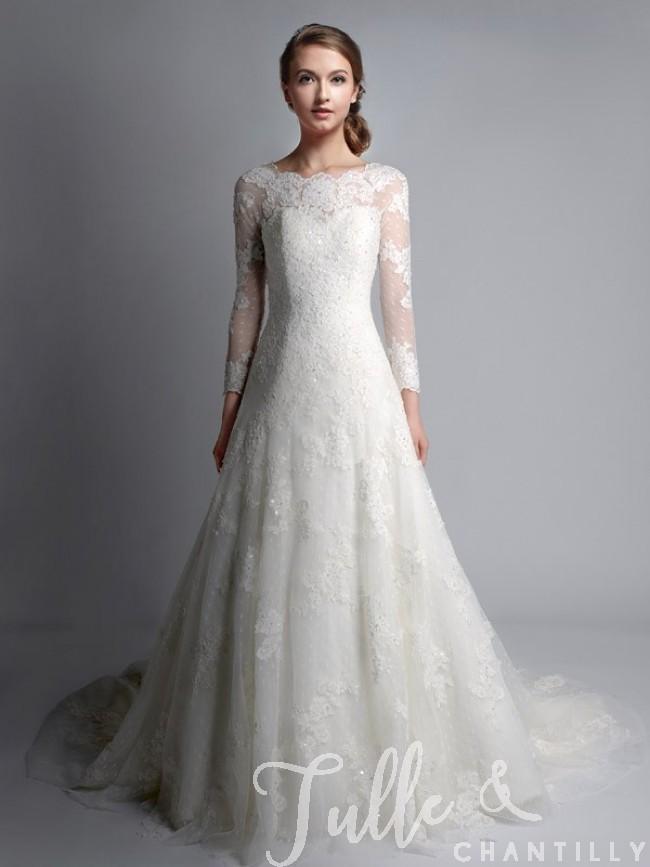 vintage lace wedding dresses vintage bateau neck long sleeves lace wedding gown tbqwc024 ... evsrqmg
