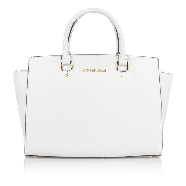 white handbags michael kors handle bags, michael selma lg tz satchel optic white... ( donvglw