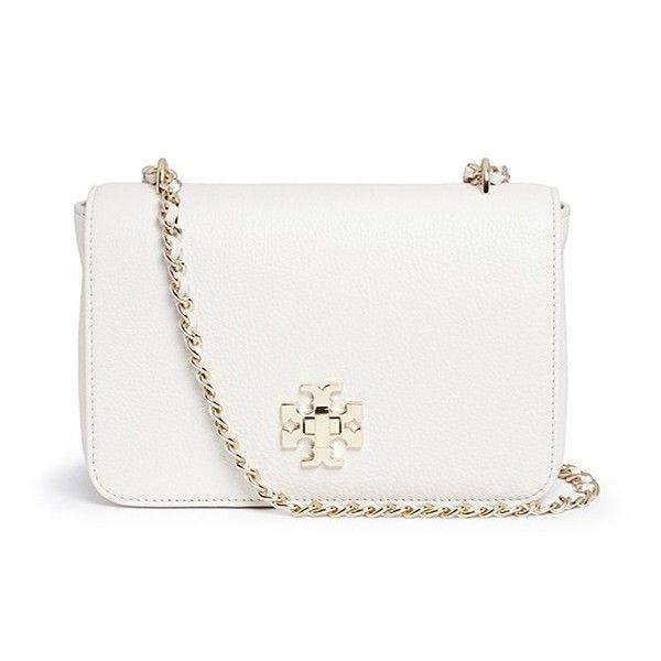 white handbags tory burch u0027merceru0027 adjustable leather shoulder bag ($540) ❤ liked on  polyvore mqkiptu