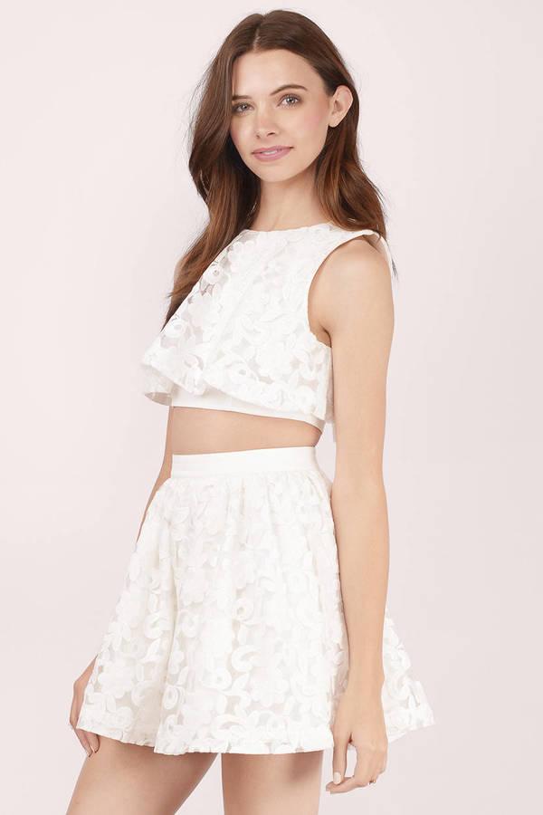 white lace skirt ... wild child white lace skater skirt ... mnpvihu
