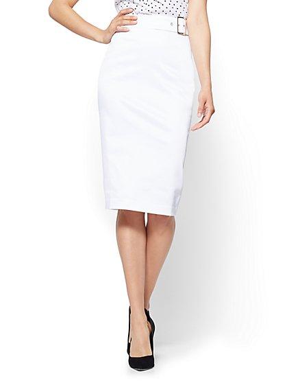 white pencil skirt 7th avenue - twill pencil skirt - white - new york u0026 company agjncdi
