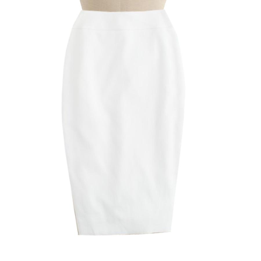 white pencil skirt, custom fit, handmade, fully lined, wool blend fabric praatwa