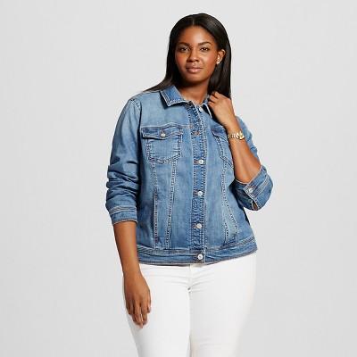 womenu0027s plus size denim jacket ... rdiyzln