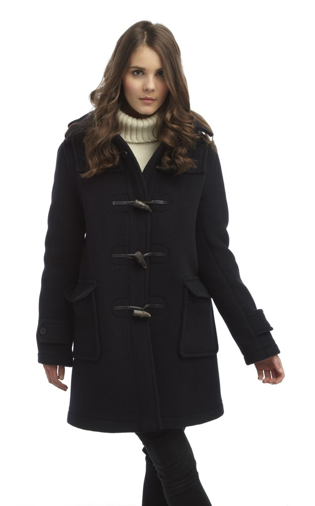 womens duffle coat womens london duffle coat - navy zlasjcb