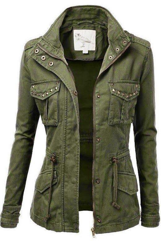 womens jacket jtomson - freedom of fashion - womens trendy camo military cotton  drawstring fzsfdri