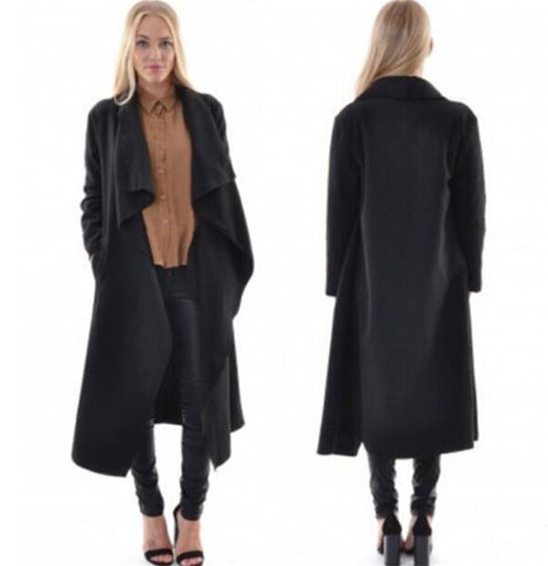womens long black coat re re uxxwpvg