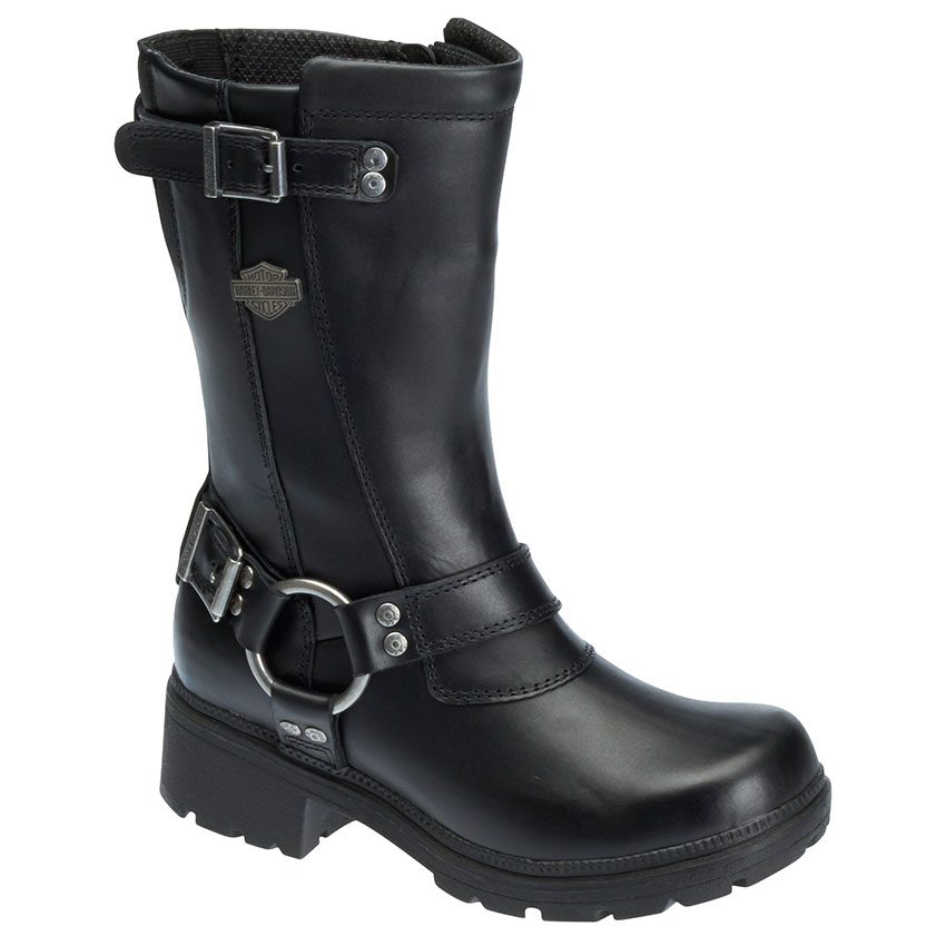 womens motorcycle boots harley-davidson womenu0027s derringer zipper harness boots vuscdfo