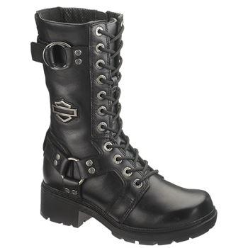 womens motorcycle boots harley-davidson womenu0027s eda 9 eompydz