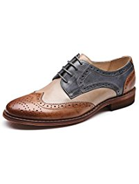 womens oxford shoes u-lite womenu0027s perforated lace-up wingtip multicolor leather flat oxfords  vintage oxford shoes cngmszk