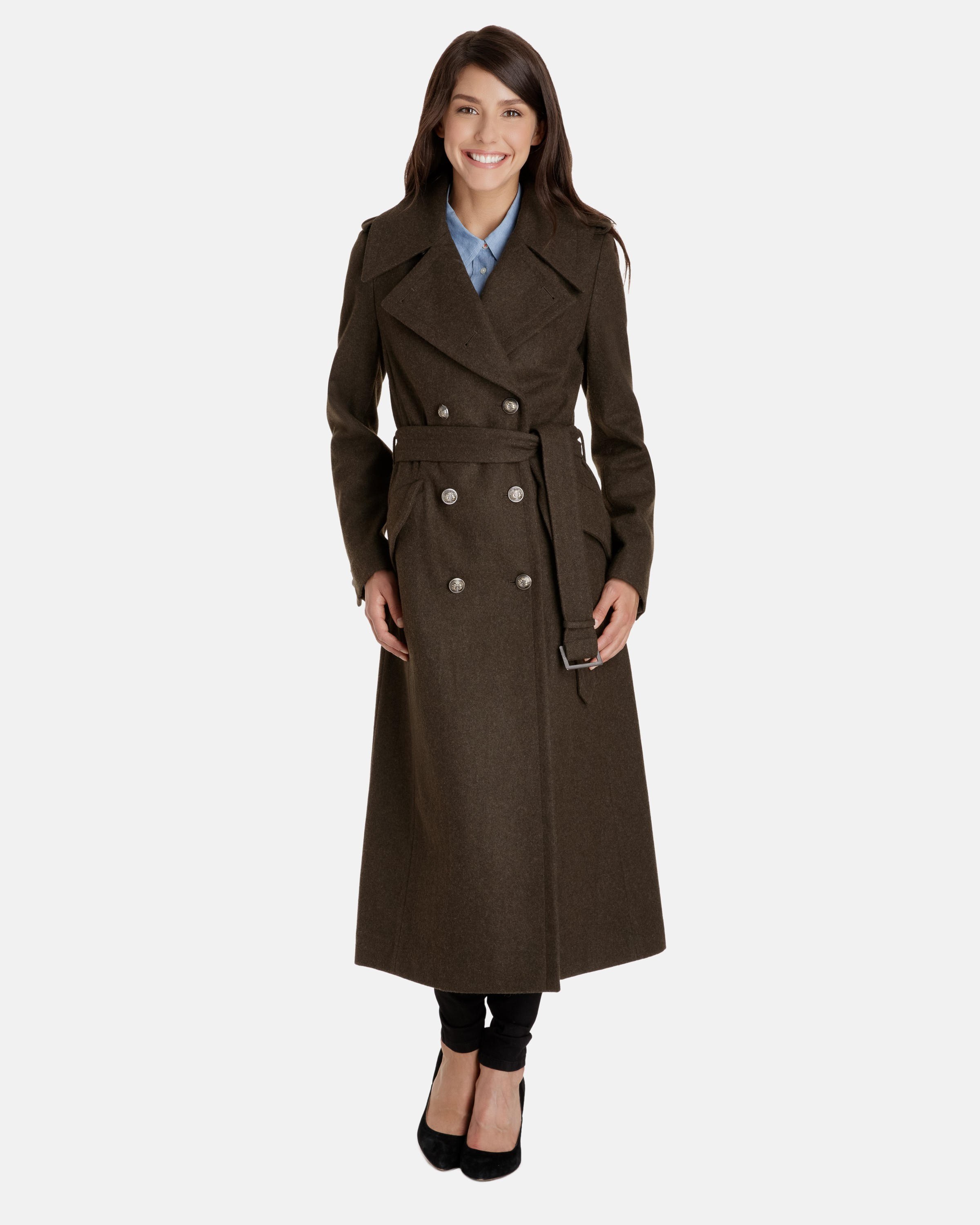 wool coats for women whitney full length double breasted heritage wool trench coat vthylik