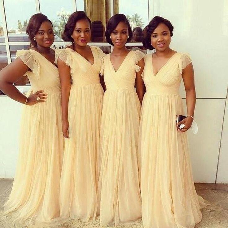 yellow bridesmaid dresses v-neck bridesmaid dress,sexy bridesmaid dress,pretty bridesmaid dress,charming  bridesmaid hzuwsdr
