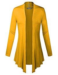 yellow cardigan biadani women classic open front lightweight soft drape cardigan bzynydx