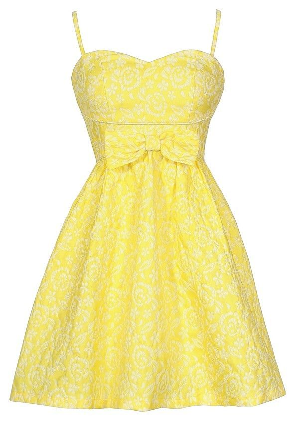 yellow sundress here comes the sun bow front bright yellow designer sundress  www.lilyboutique.com pmznvmf